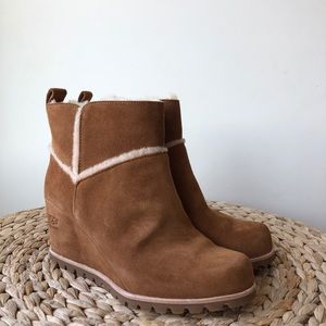 a8335adcfd9f UGG Shoes - Ugg Marte Wedge Boots In Chestnut